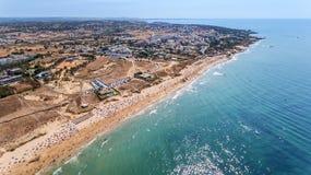 aerial Panorama von Albufeira-Antenne in Algarve-Region, Portugal, Lizenzfreie Stockfotos