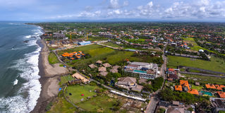 Aerial panorama of the western balinese coast Royalty Free Stock Images