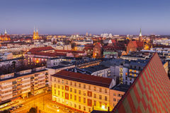 Aerial panorama of Wroclaw Stock Images