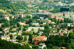 Aerial panorama of Zverynas in Vilnius Royalty Free Stock Photography