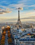 Aerial panoramic cityscape view of Paris, France Stock Image