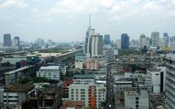 Aerial panoramic generic view of Bangkok city, Thailand, Asia. Stock Images