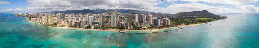 Aerial panoramic photo of Hawaii Stock Image