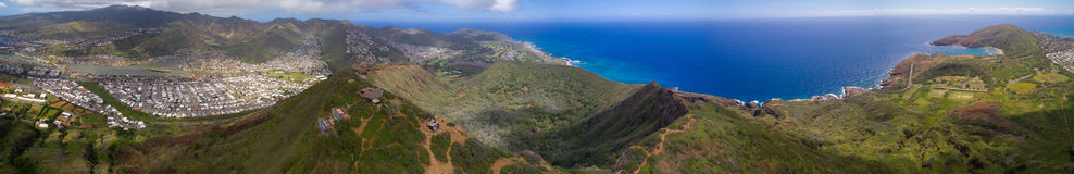 Aerial panoramic photo of Hawaii Royalty Free Stock Image