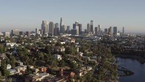 Aerial panoramic shot of Los Angeles in California