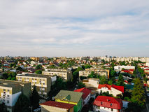 Aerial Panoramic View Of Bucharest City Royalty Free Stock Photography