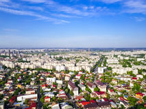 Aerial Panoramic View Of Bucharest City Stock Images