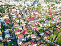 Aerial Panoramic View Of Bucharest City Royalty Free Stock Photo