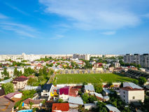 Aerial Panoramic View Of Bucharest City Royalty Free Stock Images