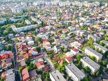 Aerial Panoramic View Of Bucharest City Royalty Free Stock Image