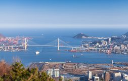 Aerial view of Busan, South Korea stock images