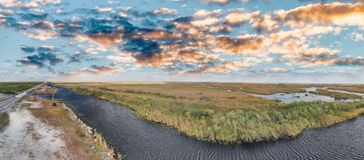 Aerial panoramic view of Everglades National Park, Florida Royalty Free Stock Images