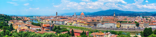 Aerial panoramic view of Florence, Italy Stock Images