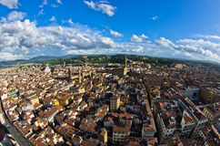 Aerial panoramic view of Florence from one of many towers, Tuscany Royalty Free Stock Photo