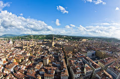 Aerial panoramic view of Florence from one of many towers, Tuscany Royalty Free Stock Photos