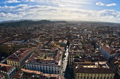 Aerial panoramic view of Florence from one of many towers, Tuscany Stock Photos