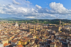 Aerial panoramic view of Florence from one of many towers, Tuscany Stock Photography