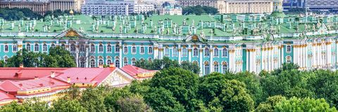 Aerial panoramic view of the Hermitage, St Petersburg Russia. Aerial panoramic view of the Hermitage, St Petersburg, Russia Royalty Free Stock Image