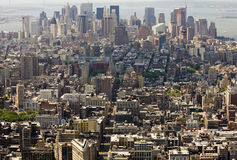 Aerial panoramic view of manhattan Royalty Free Stock Photography