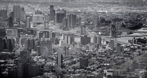 Aerial panoramic view of manhattan Royalty Free Stock Images