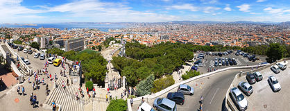 Aerial panoramic view of Marseille city, France Royalty Free Stock Image