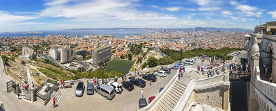 Aerial panoramic view of Marseille city, France Stock Photography