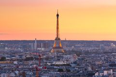 Sunrise in Paris, France royalty free stock photos