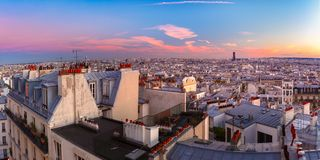 Sunrise in Paris, France royalty free stock images