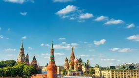 Aerial panoramic view of Moscow centre, Russia stock photo