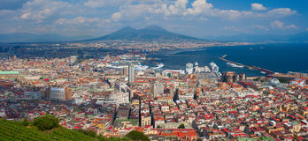 Aerial panoramic view on Naples city. Italy. Stock Photography