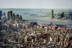 Aerial Panoramic View Of Manhattan Royalty Free Stock Image