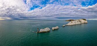 Free Aerial Panoramic View Of The Needles Of Isle Of WIght Royalty Free Stock Photos - 196301178