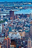 Aerial panoramic view over upper Manhattan from Empire State bui Royalty Free Stock Photo
