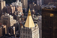 Aerial panoramic view over upper Manhattan from Empire State bui Royalty Free Stock Image