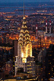 Aerial Panoramic View Over Upper Manhattan From Empire State Building Royalty Free Stock Image