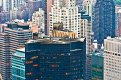 Aerial panoramic view over upper Manhattan Stock Images
