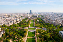 Aerial panoramic view of Paris. And Seine river as seen from Eiffel Tower in Paris, France Stock Image