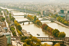 Aerial panoramic view of Paris Stock Photography