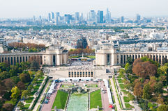 Aerial panoramic view of Paris Stock Photos