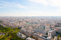Aerial panoramic view of Paris Royalty Free Stock Images