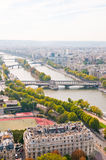 Aerial panoramic view of Paris Stock Images