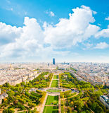 Aerial panoramic view of Paris from Eiff Royalty Free Stock Photo