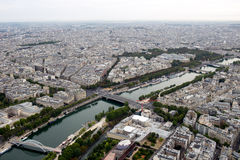 Aerial panoramic view of Paris, France Stock Images
