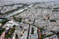 Aerial panoramic view of Paris, France Stock Photos