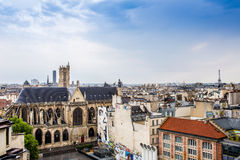 Aerial panoramic view of Paris, France Stock Photo