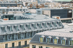Aerial panoramic view of Paris, France Stock Photography