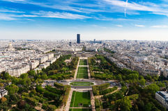 Aerial panoramic view of Paris Royalty Free Stock Photo
