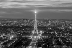 Aerial panoramic view of Paris skyline, France royalty free stock images