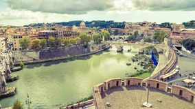 Aerial panoramic view of Rome royalty free stock photography