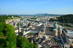 Aerial panoramic view of the Salzburg Royalty Free Stock Photography